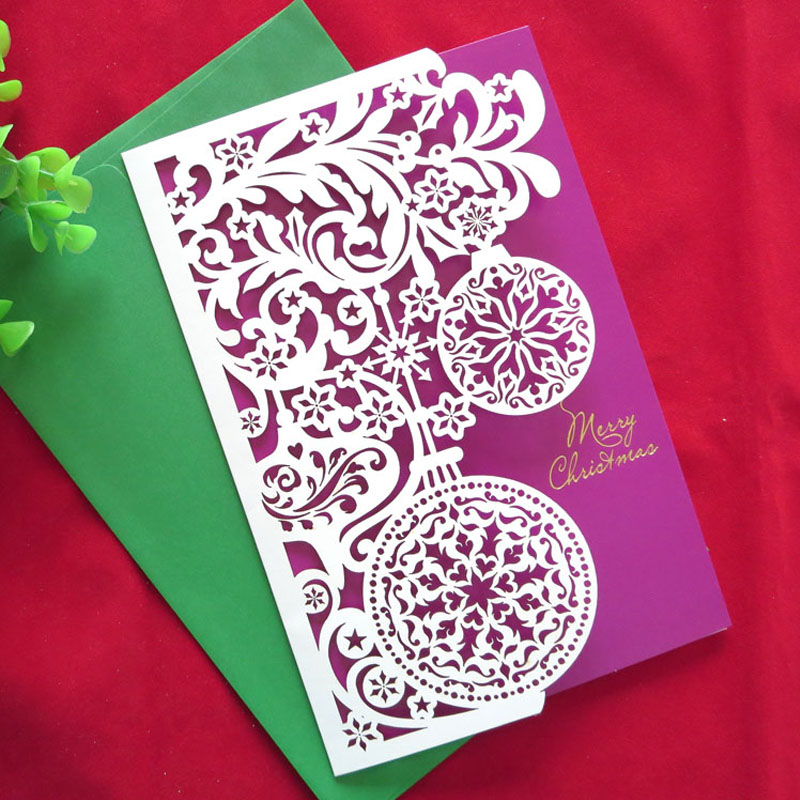 2016 new year 10 pcs creative handmade high quality merry christmas cards cute gifts laser cut up paper business greeting cards on aliexpresscom alibaba