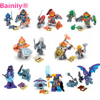 Bainily 8Pcs Lot Nexus Knights Toys Building Blocks Figures Toys Bricks For Children Compatible With