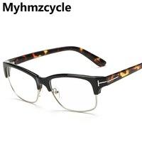 Mattol 2016 New Fashion Plain Glasses Tom Eyewear Half Frames Vintage Brand Designer Mirror Man Office