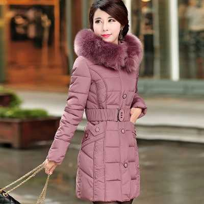 Women's Down Jacket 2016 Winter Jacket Mother Brand White Duck Down Jackets And Coats Thicken Fur Hooded Parka A4359 top quality fashion parent child 90% white duck down jacket medium long mother and son hooded cotton padded down family coats