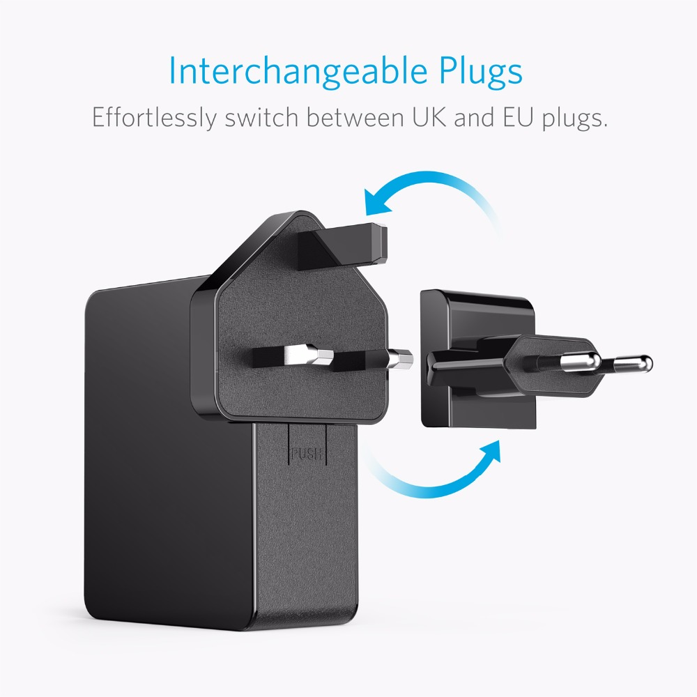 Anker 27w 4 Port Usb Wall Charger Powerport 4 Lite