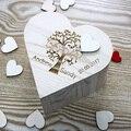 Индивидуальная Свадебная Гостевая книга  индивидуальная прямая книга для топ-гостей  гостевая книга с деревянным сердцем для подписи  дере...
