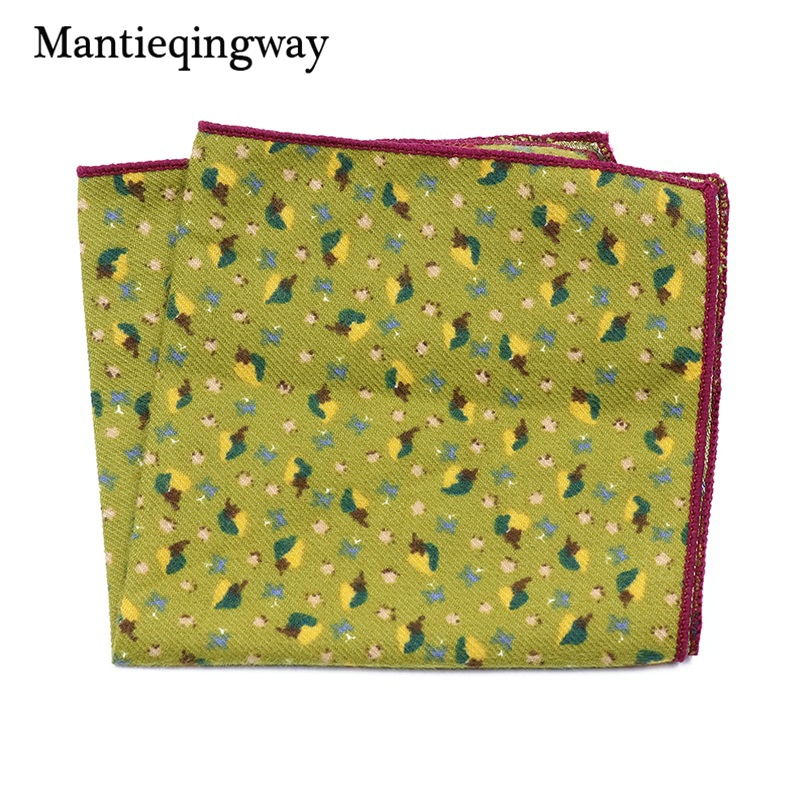 Casual Floral Printed Small Handkerchief For Mens Suits Pocket Square Wedding 23cm*23cm Hankies Brand Accessories