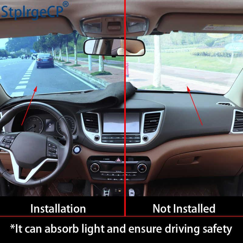 Rosa Modello Non-slip Car Dashboard Copertura Dash Zerbino Pad Dash Zerbino Anti-Uv Autoadesivo Dell'automobile per Hyundai ix35 ix 35 2018 2019 Car Styling