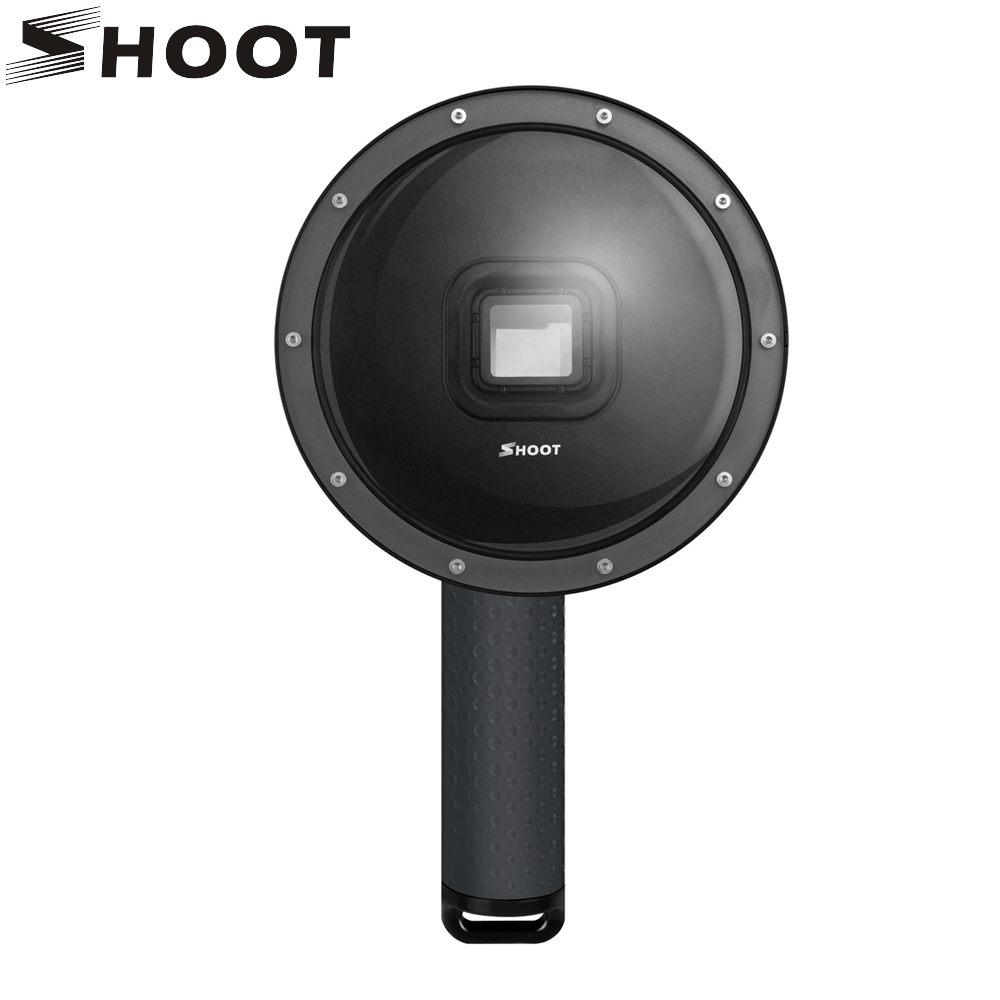 SHOOT 6 inch Underwater Dome Port Lens With Float Bobber Waterproof Case for GoPro 6 5 Black Camera Dome For Go Pro 6 Accessory meikon underwater diving camera waterproof cover case for canon 650d 18 55mm lens black