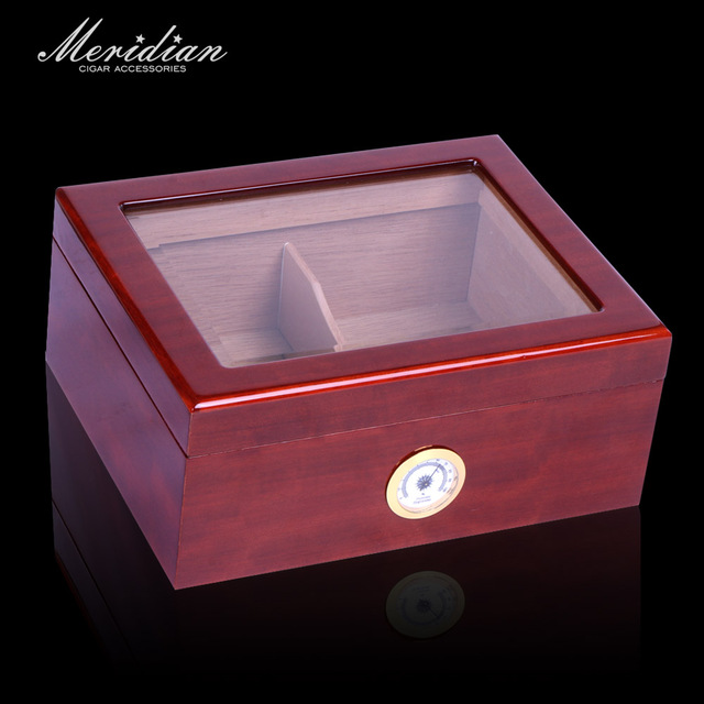 Cohiba humidor for 50ct cigars with Glass top window humidor box display Cedar wood