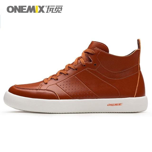 ONEMIX обувь для скейтбординга легкие крутые кроссовки из мягкого микроволокна кожаная верхняя эластичная подошва мужская обувь для прогулок европейский размер 39-45