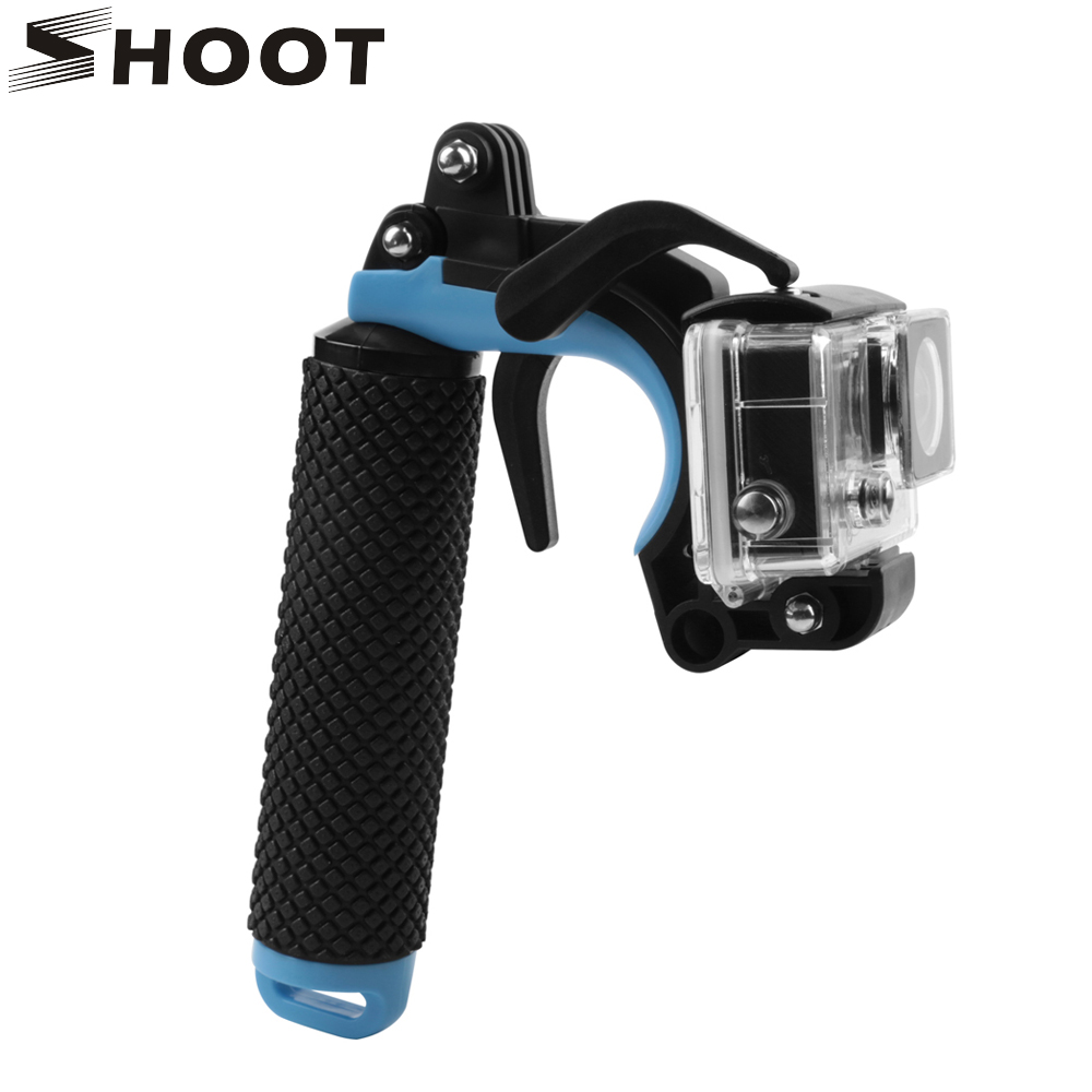 SHOOT Floating Bobber Grip Pistol Trigger Set for GoPro Hero 6 5 7 Xiaomi Yi 4K SJCAM SJ4000 H9r Cam Phone Dome Go Pro Accessory