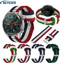 22mm Nylon Wristband Strap for Huawei GT watchband Replacement Bracelet Samsung Galaxy Watch 46mm Smart watchstrap wristbelt
