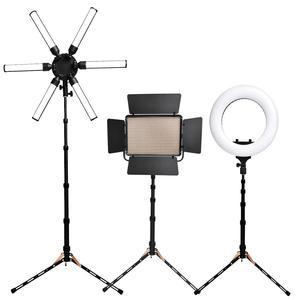 Image 5 - Fosoto FT 140 Led אור Stand חצובה ניידת צילום תאורת פלאש מטריות רפלקטור תמונה סטודיו מצלמה טלפון
