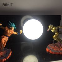 Double Dragon Ball Son Goku And Frieza Bombs Luminaria Led Night Light Holiday Gift Room Decorative