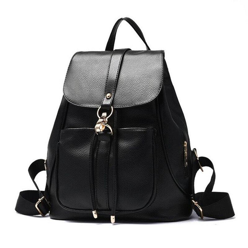 854129d0dc7 2016 mujeres vintage casual nuevo estilo pu cuero escuela bolsas famoso  diseñador marca mochila para las niñas bolsa de viaje