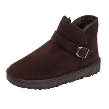 hot deal buy snow boots 2018 classic heels flock women winter boots warm fur plush insole snow boots women shoes hot buckle shoes women skrrr