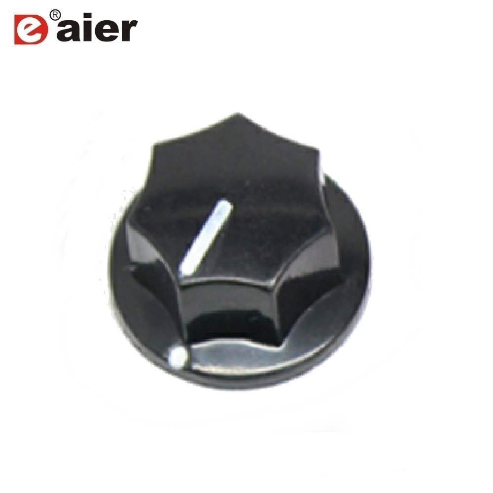 10x Black Fluted MXR Style Knob for guitar pedals