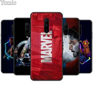 Marvel Superheroes The Avengers Silicone Phone Case for Oneplus 7 8 7T Pro 6 6T Soft TPU Cover Shell for Oneplus8Pro Black Coque(China)