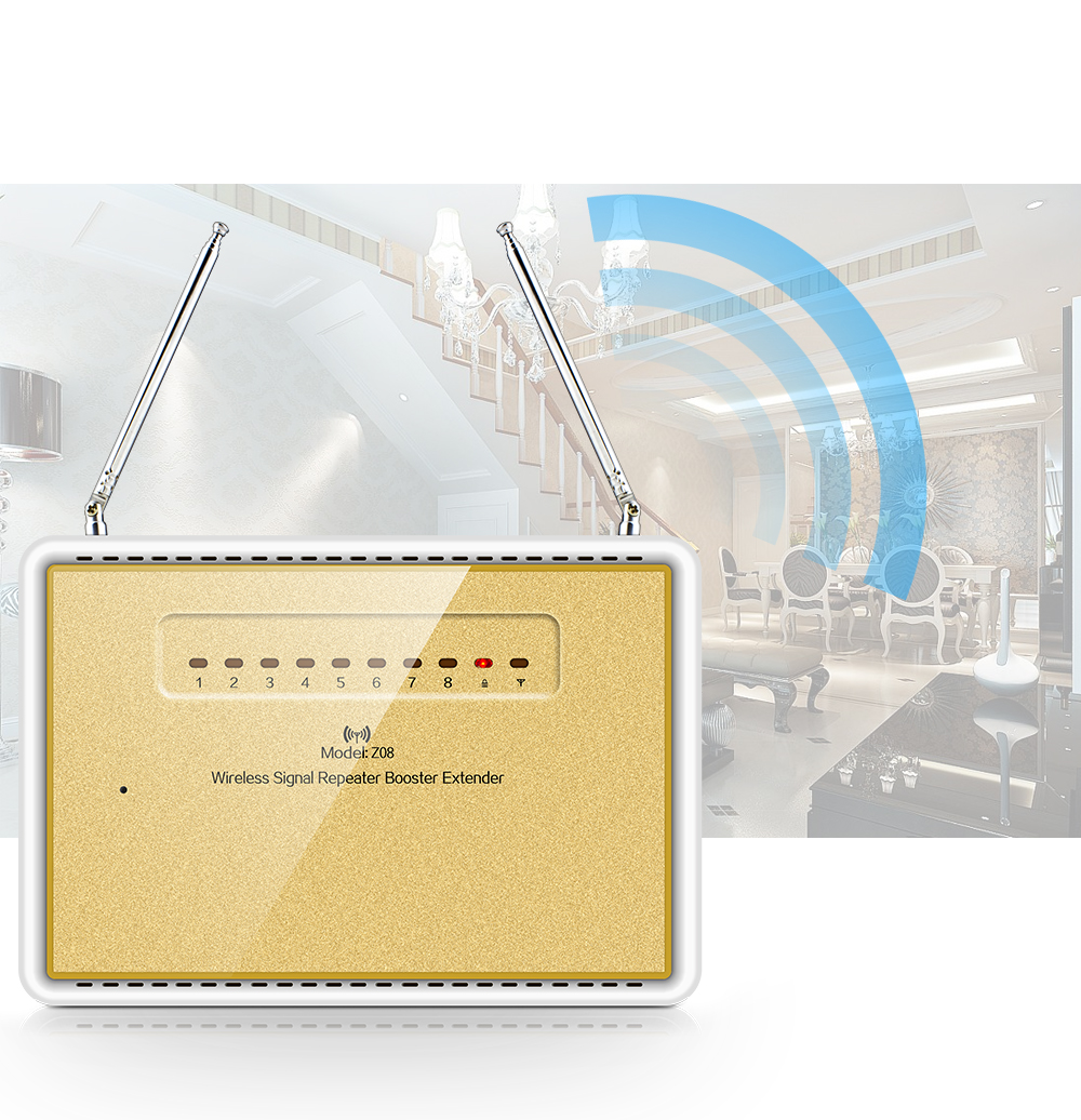 ФОТО 433MHz Wireless Signal Repeater Booster Extender For Home Alarm Security System