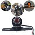 Round Motorcycle Rear license Brake Tail Light For Harley Chopper Custom Bobber #4112