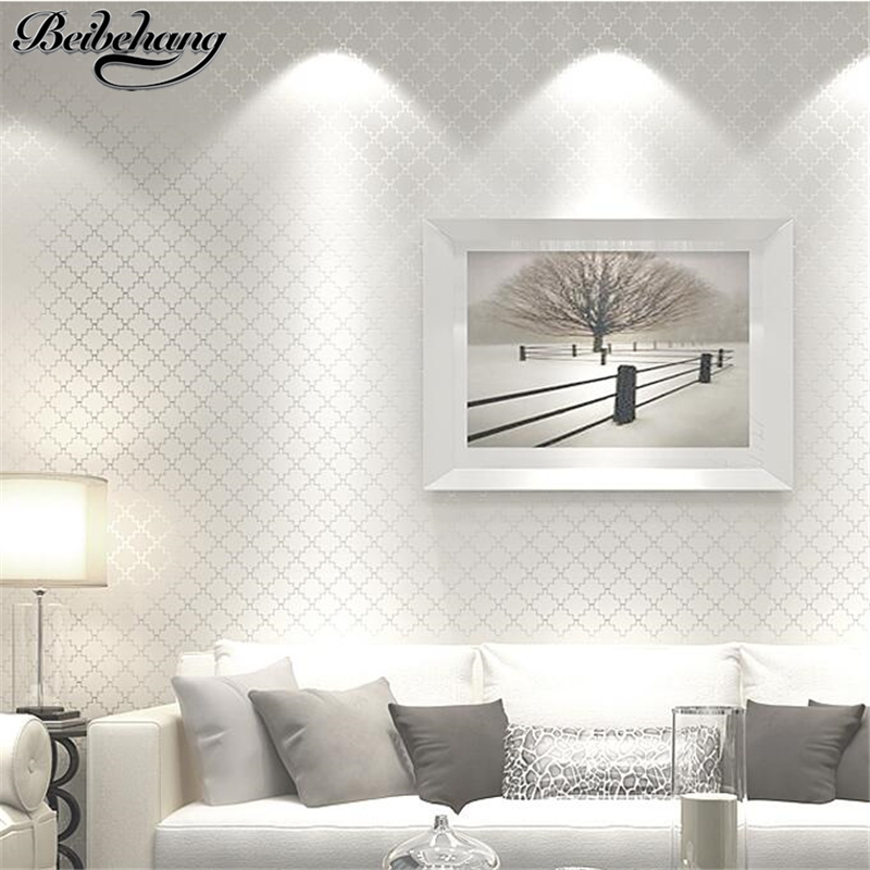 beibehang The New Nordic plain modern non-woven wallpaper bedroom living room TV background wall paper three-dimensional lattice beibehang new children room wallpaper cartoon non woven striped wallpaper basketball football boy bedroom background wall paper