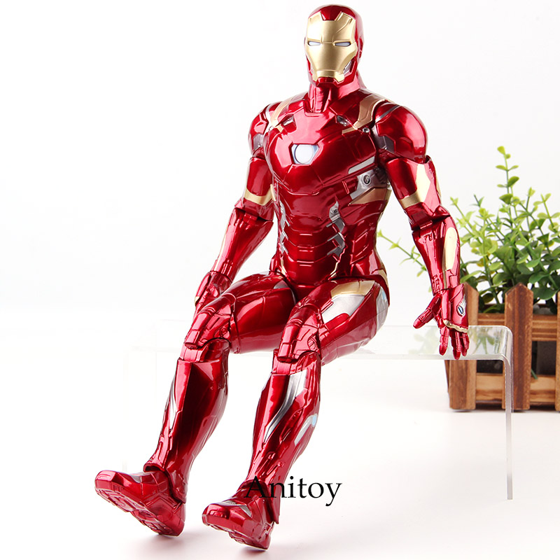 Captain American Civil War Marvel Legends Iron Man Action Figure Lighting PVC Collection Model Toys Gifts power man and iron fist volume 2 civil war ii