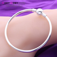 Authentic 925 Sterling Silver Bracelets Bangle Fit Original Charms For Women Diy Jewelry