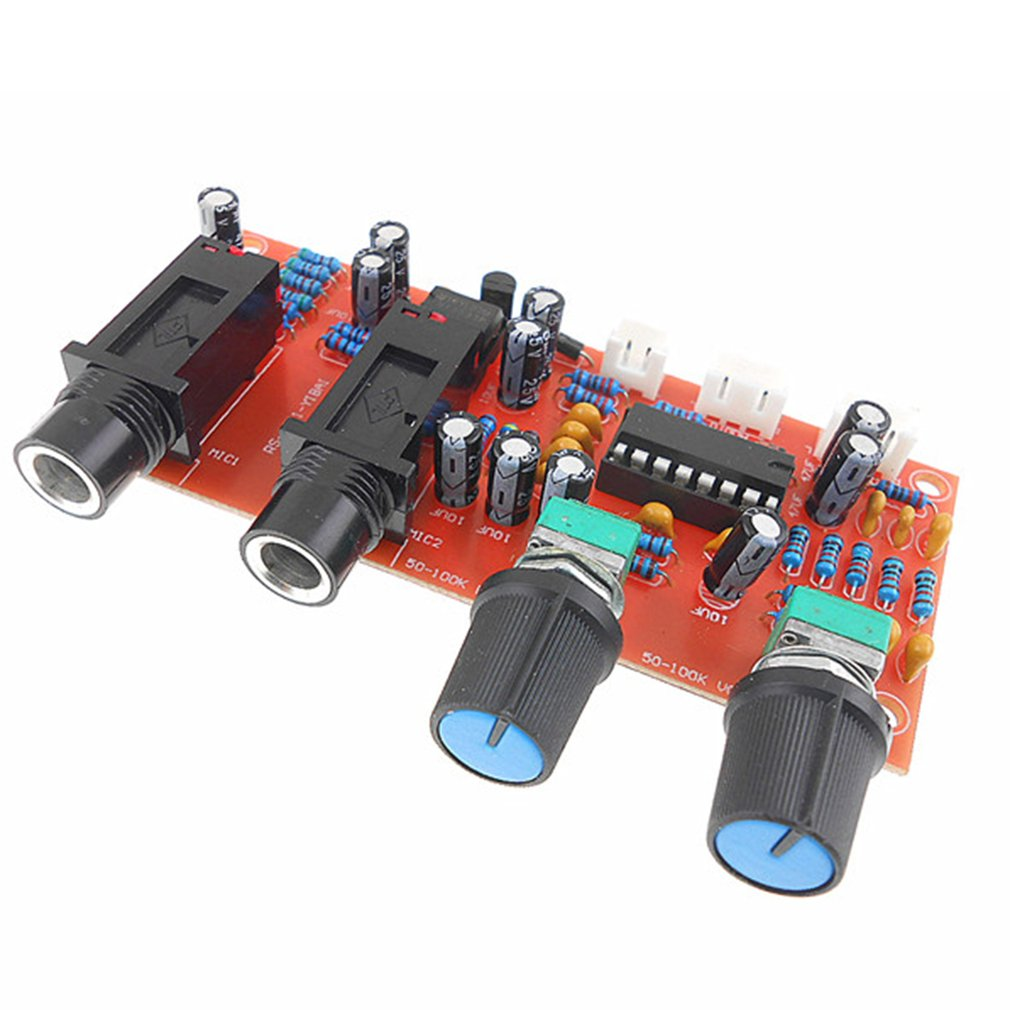 PT2399 NE5532 Microphone Amplifier Board Preamplifier Reverberation Panel Digital Microphone Amplifier Module