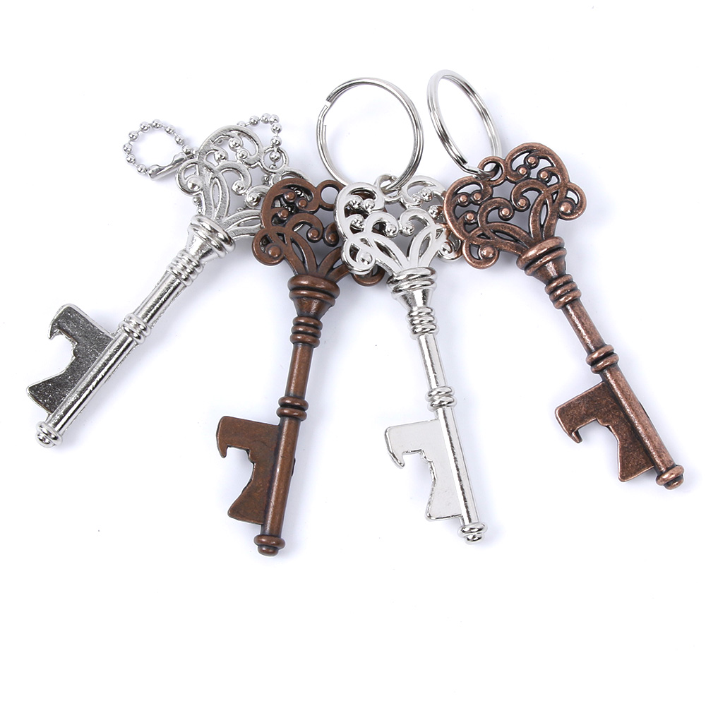cdd7ae45809 Hot Sale] 50pcs Metal Key Beer Bottle Opener Wine Ring Keychain ...