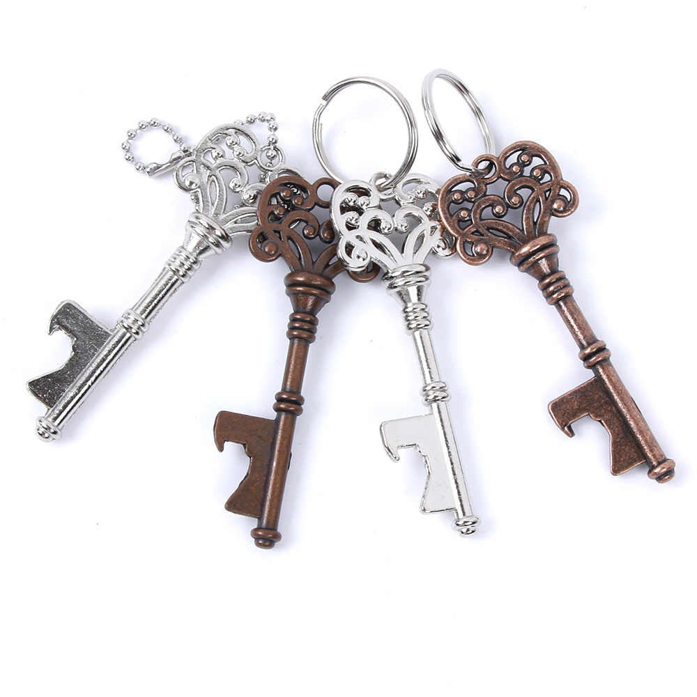 1Pc Creative Portable Vintage Key Shaped Beer Bottlee Opener Metal Keychain Beer Bottle Opener Keyring Bar Tools Gifts