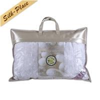 SILK PLACE 2018 Home Pillow Cushion White Brand Health Natural Silk Design High Quality Cotton Soft Style Bread Sleeping Pillow