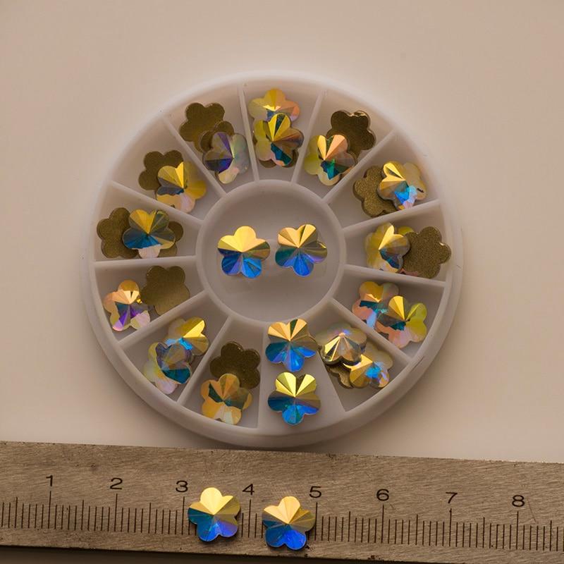 YANRUO 72pcs 6mm # 252560 Crystal AB 3D Plum blossom Nail art - Arte de uñas - foto 6