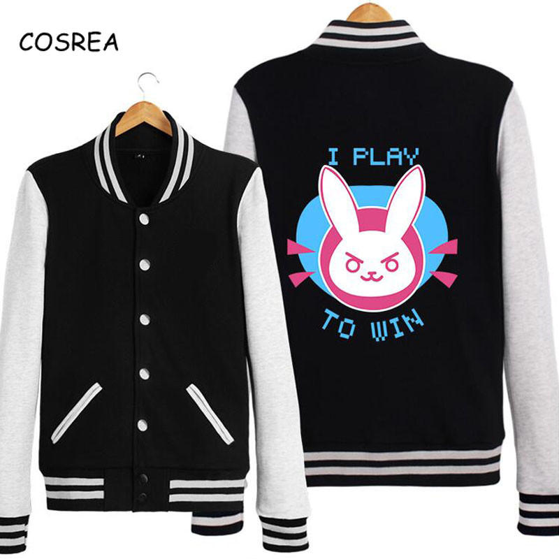 Dva Cosplay Costume D.va Hoodie Sweatshirt Women Female Jackets Baseball Coats Cotton Genji Reaper Long Sleeve Cosplay Costumes