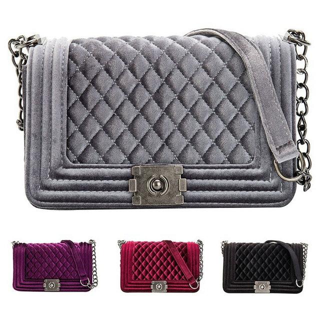 84167afe6 Bolsos de lujo de moda Bolsos De Mujer bolsos de hombro de terciopelo de diseñador  bolsos