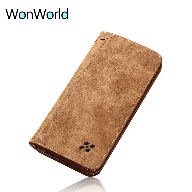 Men Wallet for credit cards leather money bag vintage business ladies travel slim card holder coin purses long leather wallets 100% wax oil cowhide vintage wallets female money clips real leather clutch wallet for women credit cards change purses 2014 new