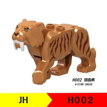 Locking Animals Saber-toothed Tiger Animal Kid & Babies Simulation Toys Building Blocks Prince of Persia Jungle Adventure Series(China)