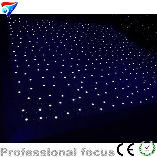 цена 8FT*8FT LED Dance Floor Disco KTV Light Stage Effect  Lighting Floor Lamp White Color Star Effect онлайн в 2017 году