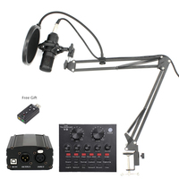 BM 800 Professional Condenser Microphone bm800 Stand Pop Filter Tripod for Microphone for Computer PC Video Studio Recording