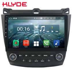 """10,1 """"ips Восьмиядерный 4G Android 8,1 4 Гб ОЗУ 64 Гб ПЗУ RDS BT автомобильный DVD мультимедийный плеер Радио стерео для Honda Accord 7th 2003-2007"""