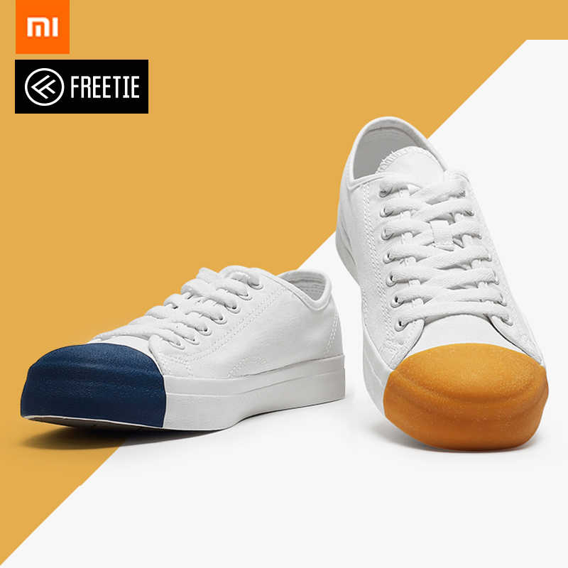 Xiaomi Mijia Youpin Freetie Match head canvas shoes New Small white shoes canvas 3 colors for fashion Boy