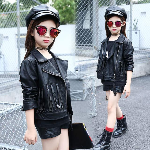 Online Shop New Spring 2018 Korean Fashion Girls Leather Jackets