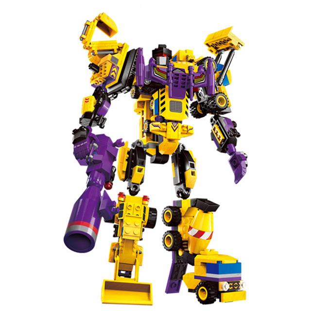 599 unids 7 en 1 El Dios Creador Robot Bloques de Construcción establece Niños Juguetes Para Niños Regalos de Navidad compatible con las principales marcas bloques