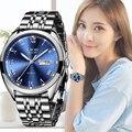 2019 LIGE женские новые синие часы Дата Бизнес Кварцевые Часы Дамские Лидирующий бренд Роскошные женские наручные часы женские часы Relogio Feminino