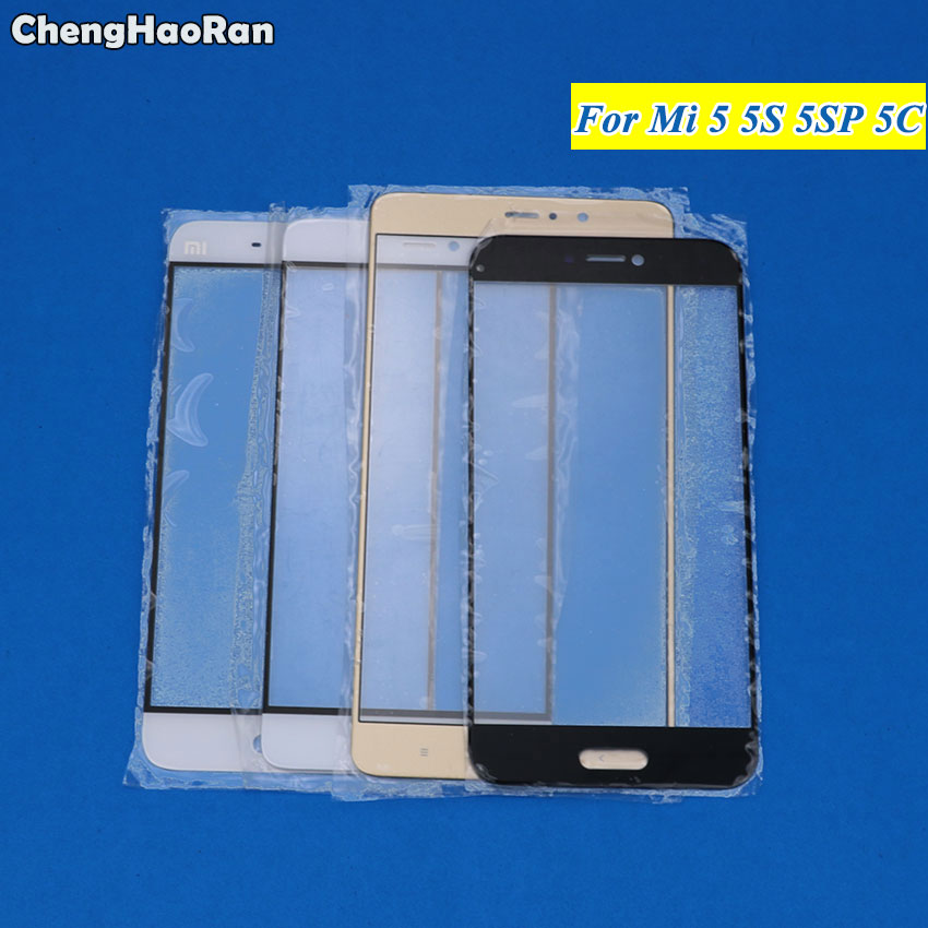 ChengHaoRan Touch Screen For Xiaomi Mi 5 5S 5C Plus Mobile Phone Touchscreen Panel Front Glass Lens Replacement NO LCD DISPLAY