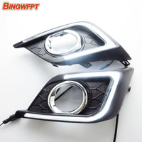 2PCS Pair Car DRL Daytime Running Lights For Nissan Sylphy Sentra 2016 With Auto Fog Daylight