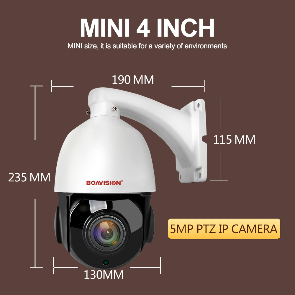 Image 5 - 4 Inch Mini 5MP IP PTZ Camera Network ONVIF H.265 Ultra HD Speed Dome 30X Zoom PTZ Speed Dome IP Camera CCTV 50m IR View 48V POE-in Surveillance Cameras from Security & Protection