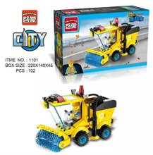 Enlightment 1101 City Series Shovel Mud Machine Slushers Bricks Minifigures Building Block Toys Best Toys