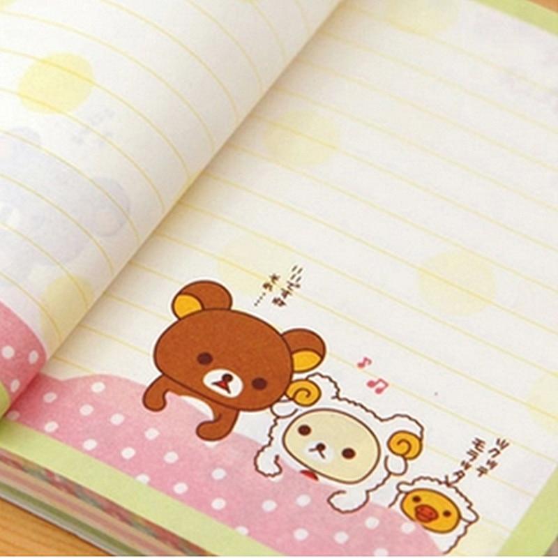 Kawaii oso de dibujos animados papelería lindo Kraft color 150 ...