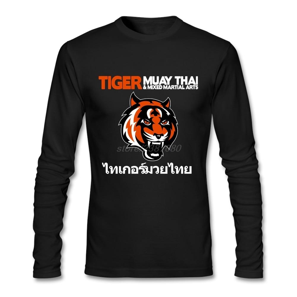 Plně pro muže tričko Nové vysoce kvalitní pro muže Tiger Muay Thai Kickbox T-košile Pre-bavlna Populární Cool Tee Shirt vzory