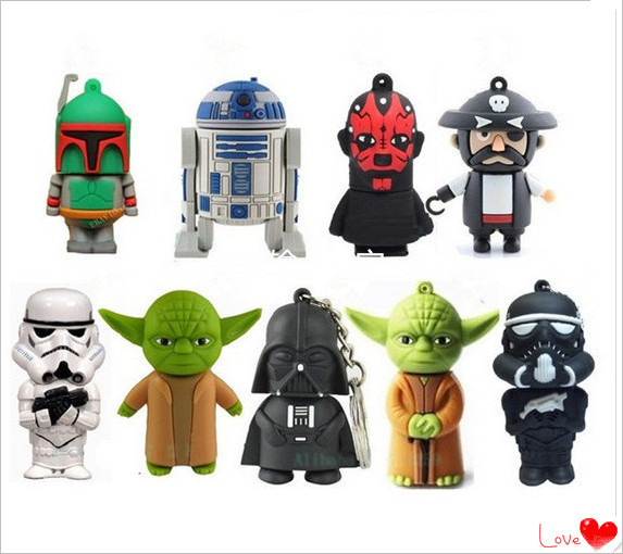Star wars Usb Stick USB 2.0 Flash Drive thumb pen drive memory stick u disk presente/Atacado 4 GB-64 GB S262