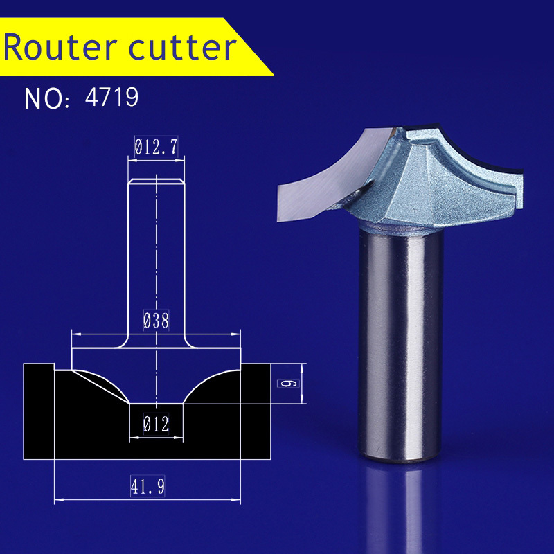 Five types 1pcs 12.7mm Chest/Door wood engraving machine tool slotting Lace milling cutter woodworking Hollow out cutter 1pcs 6 16mm chest door engraving machine milling knife wood cutter router bit knives 3d lace woodworking milling cutter no 4046