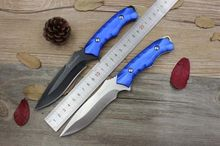 Honor handmade Tactical   Hunting knife   5Cr13Mov Blade Aluminum Handle Pocket Camping Survival knife Straight EDC Knives Tools