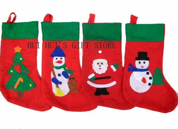 Free Shipping. Christmas promotion,Christmas stockings,santa sock,material :felt